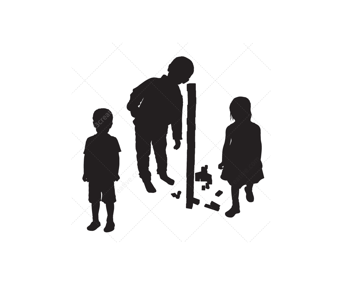 1200x1000 Kids Silhouettes Vector Pack