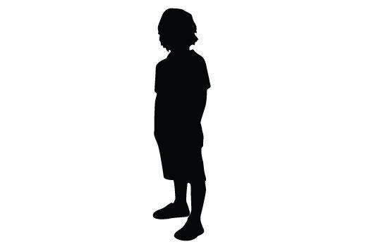 550x354 Kids Silhouette Vector