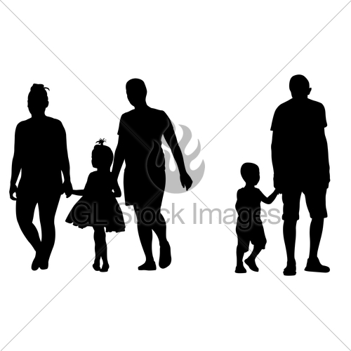 500x500 Parents With Kids Holding Hands Gl Stock Images