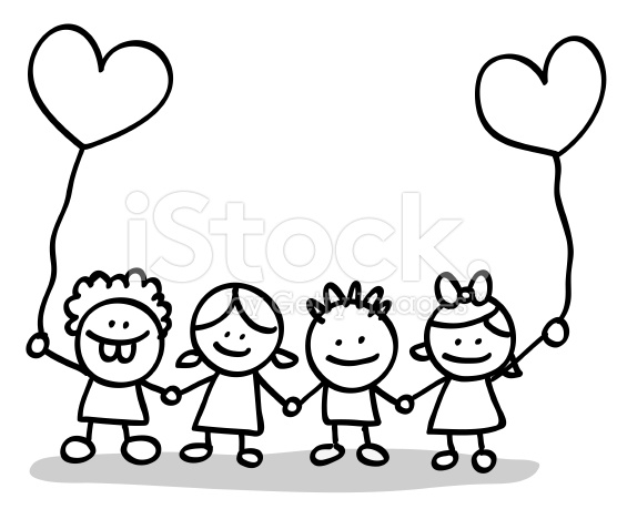 556x459 Children Holding Hands Clipart Black And White Collection