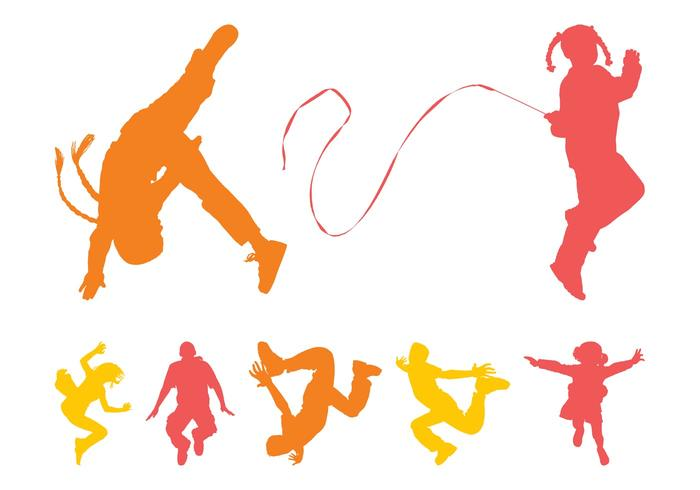 700x490 Kids Jumping Free Vector Art
