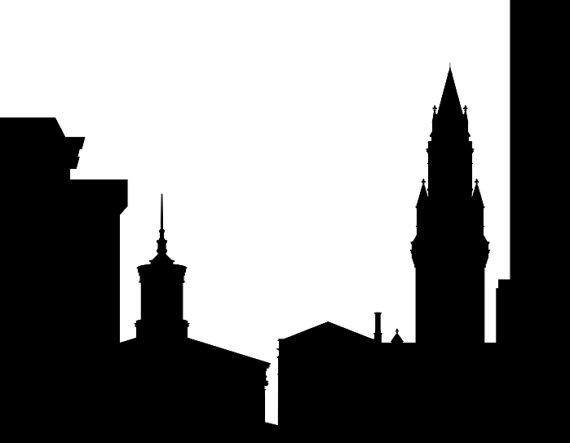 570x443 Nashville Skyline Silhouette Printable Skyline