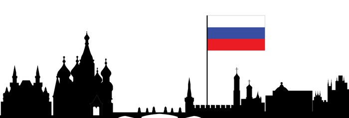 700x237 Moscow Skyline Wall Mural We Live To Change
