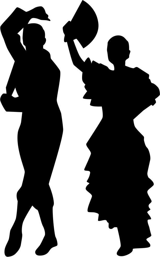 612x981 Man And Woman Flamenco Dance Silhouettes Svg Png Icon Free