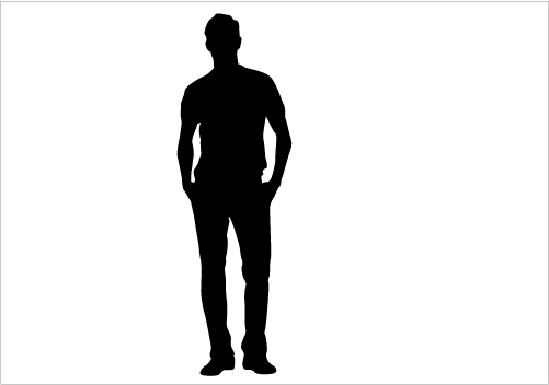 501x352 Man And Woman Silhouette Clipart