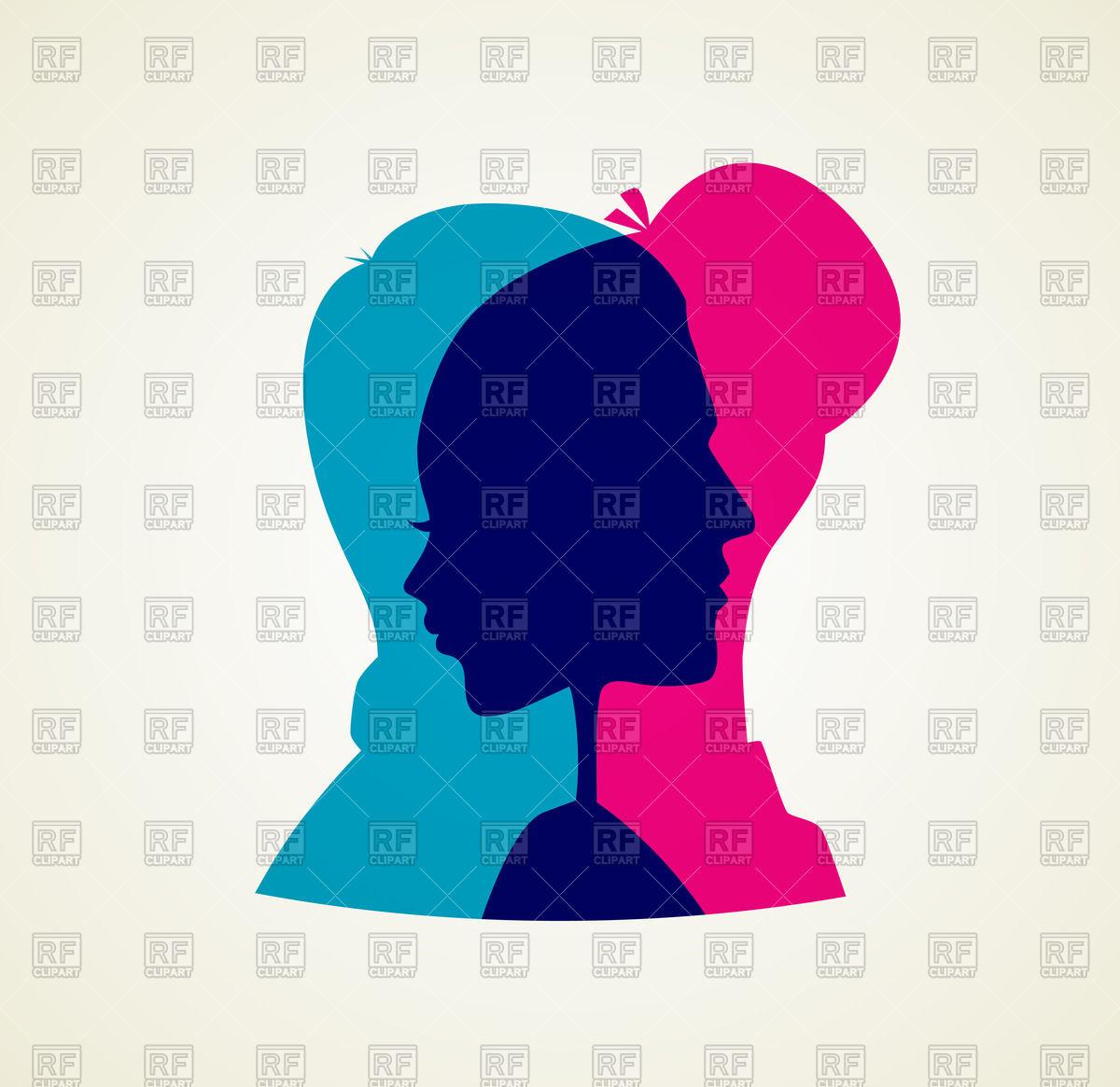 1200x1165 Silhouette Men Women Clipart Collection