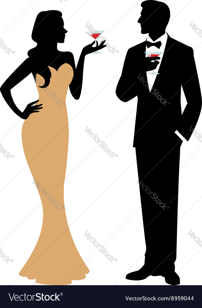 709x1080 Silhouette Of Mannd Woman Standing In Full Length Holding
