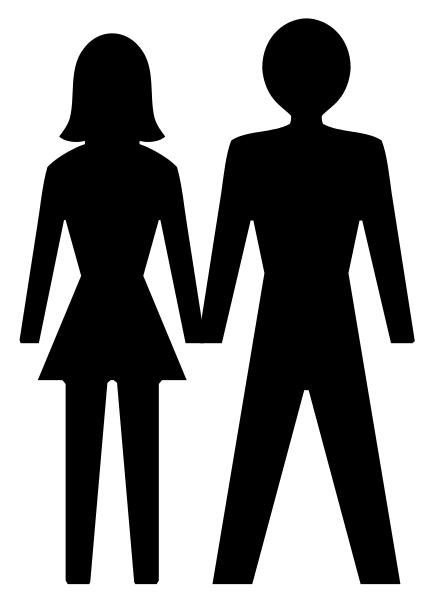 436x600 Man Woman Couple Silhouette