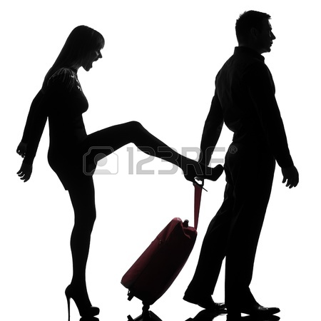 450x450 14683186 One Caucasian Couple Man And Woman Dispute Separation