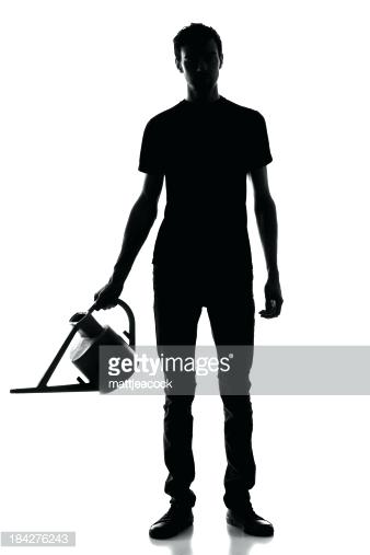 338x507 Gardening Silhouette Vector Silhouette Of A Man With Garden Tools