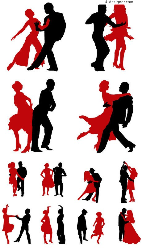 Silhouette Of Man And Woman Dancing