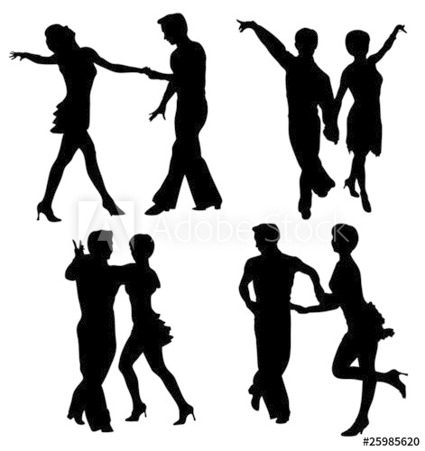 471x500 Vector Silhouettes Dancing Man And Woman