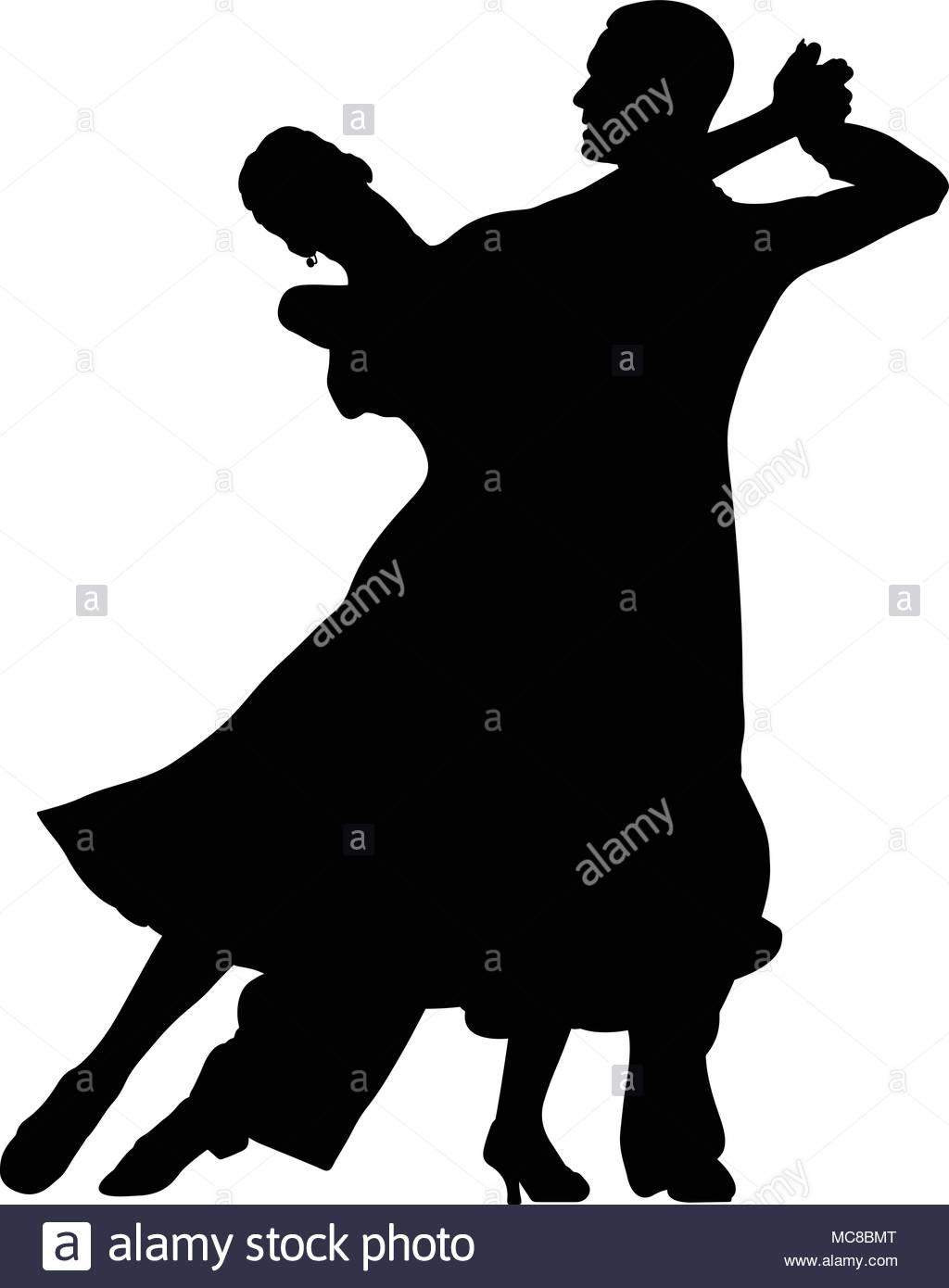 1024x1390 Ballroom Dancing Black Silhouette Pair Women And Men Dancer Stock