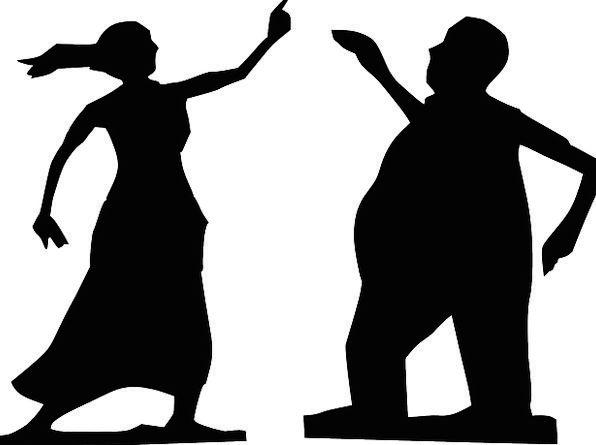 596x445 Dance, Ball, Gentleman, Silhouette, Outline, Man, Body, Woman
