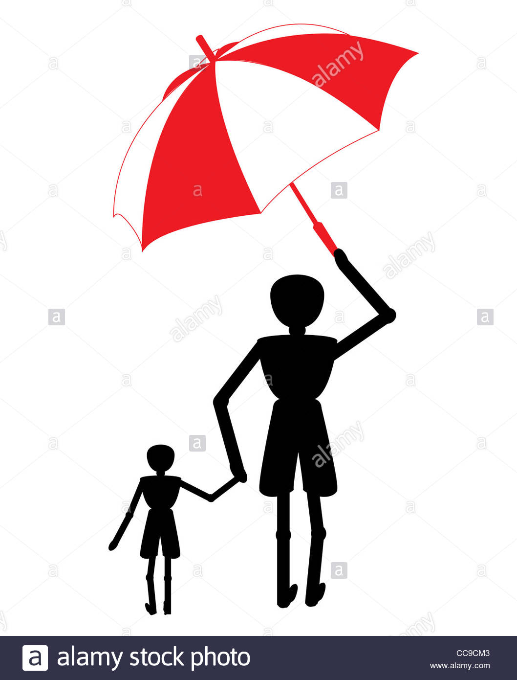 1058x1390 Woman Under Black Umbrella Cut Out Stock Images Amp Pictures