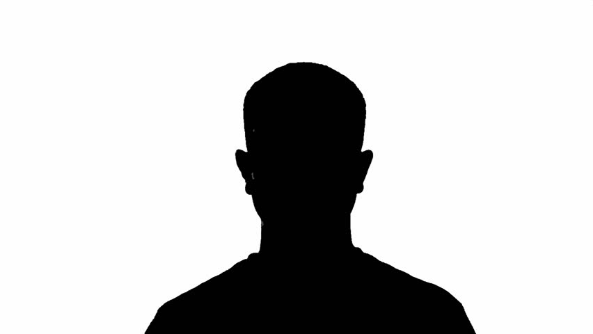 Silhouette Of Man Head