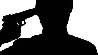 320x180 Man Silhouette Feel Uncertain About Committing Suicide, Pointing