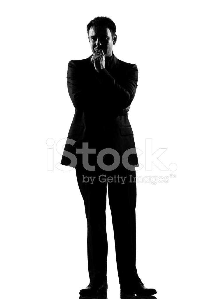 765x1024 Silhouette Man Thinking Pensive Full Length Stock Photos