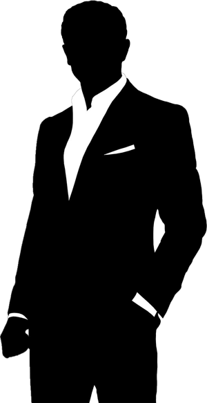 300x583 Silhouette Suit And Tie