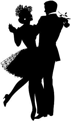 235x400 Silhouette Of Couple Dance