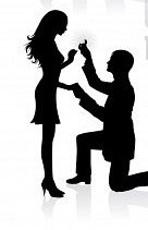 136x211 8588506 Silhouettes Of A Man Proposing To A Woman While Standing