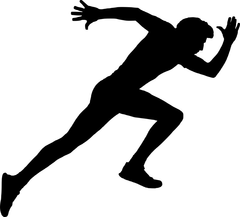 800x722 Running Man Silhouette Stickers By Printpress Redbubble
