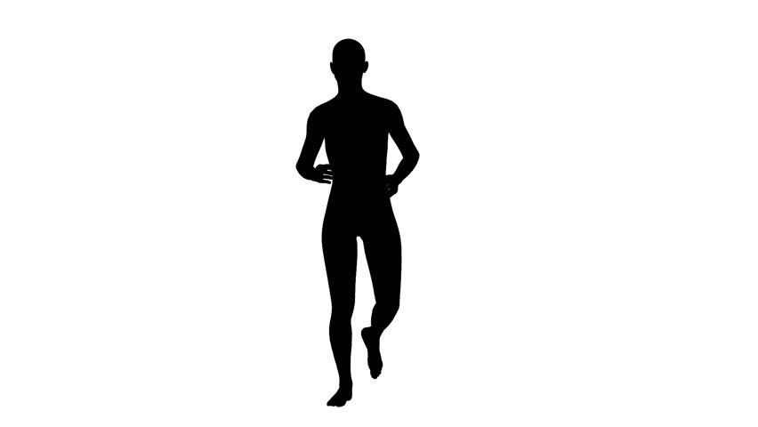 852x480 Silhouette Of Man Running Stock Footage Video 3005089 Shutterstock