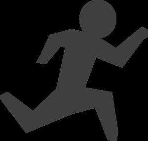 300x285 Gray Man Running Clip Art