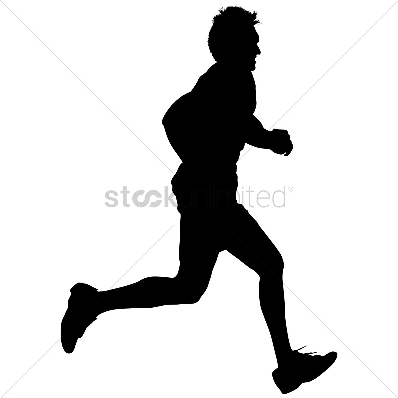 1300x1300 Silhouette Of A Man Running Vector Image