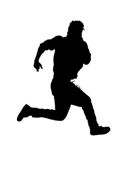 400x600 Silhouette Of A Running Man