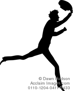 241x300 Illustration Of Simple Vintage Style Silhouette Of A Man Running