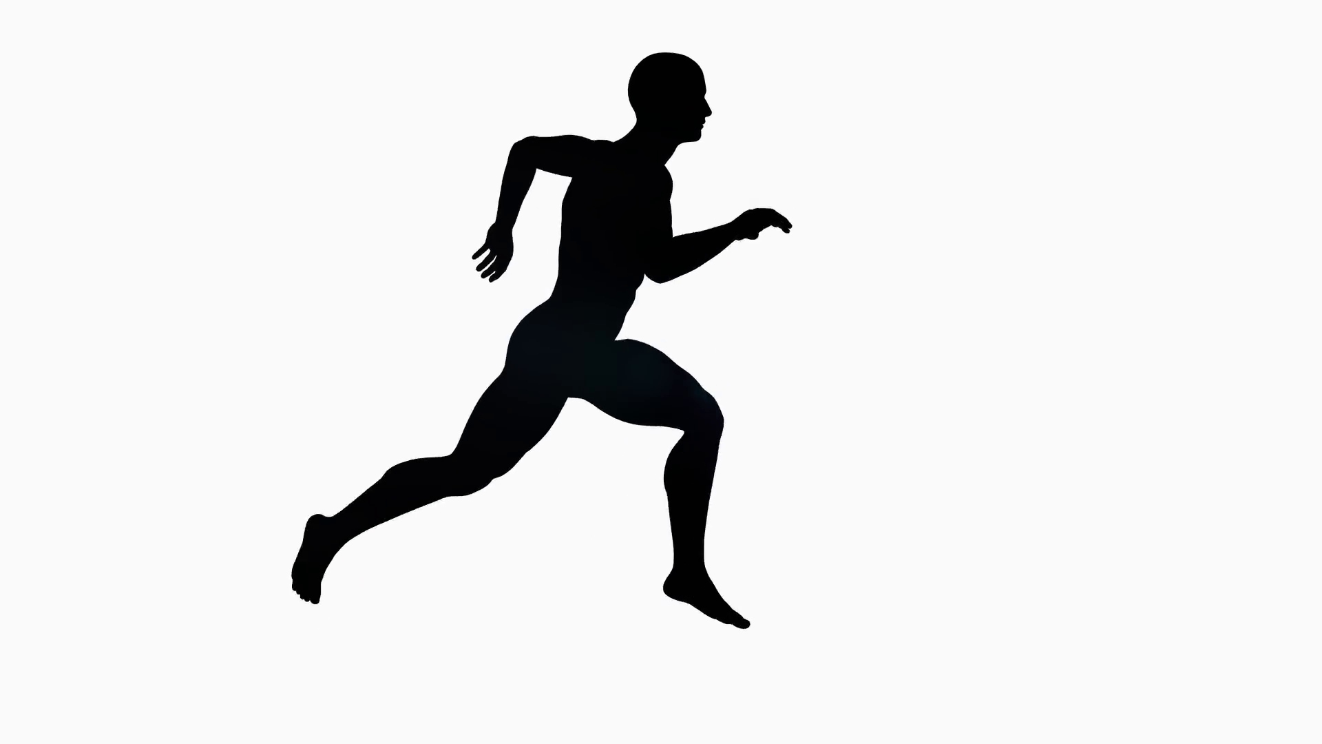 1920x1080 Man Silhouette Running Animation, Alpha Channel Motion Background