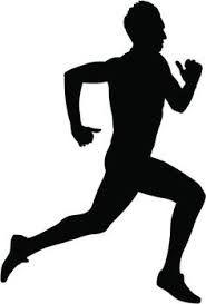 185x273 Muscular Sprinter Runner Explosive Start And Run Black Silhouette