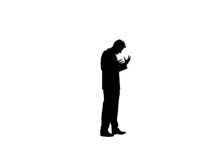 Silhouette Of Man Standing at GetDrawings.com | Free for ...