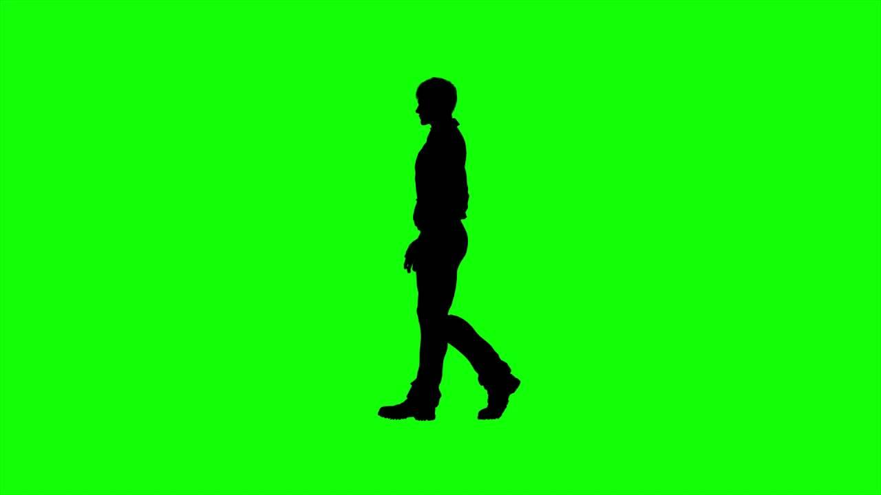 1280x720 Free Hd Video Backgrounds Man Silhouette Walking On Green Screen