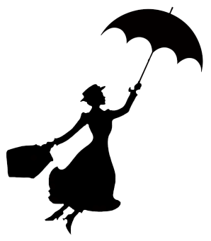 298x341 Mary Poppins Stencil Disney Silhouettes, Silhouettes And Mary