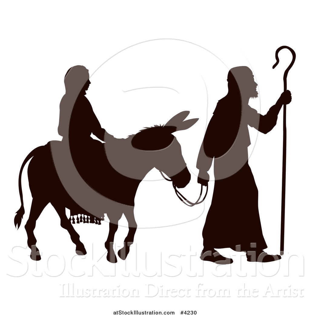 1024x1044 Vector Illustration Of Silhouette Of Marynd Joseph