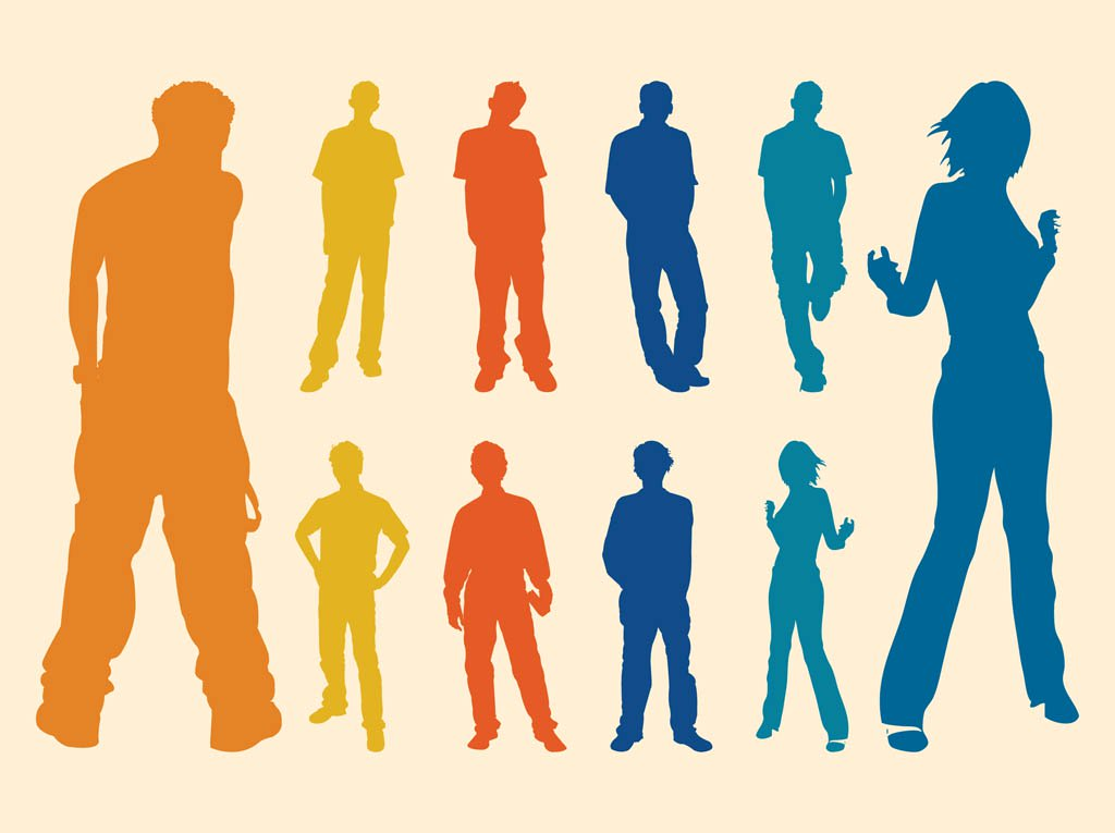 1024x765 Silhouette Men And Women Vector Art Amp Graphics