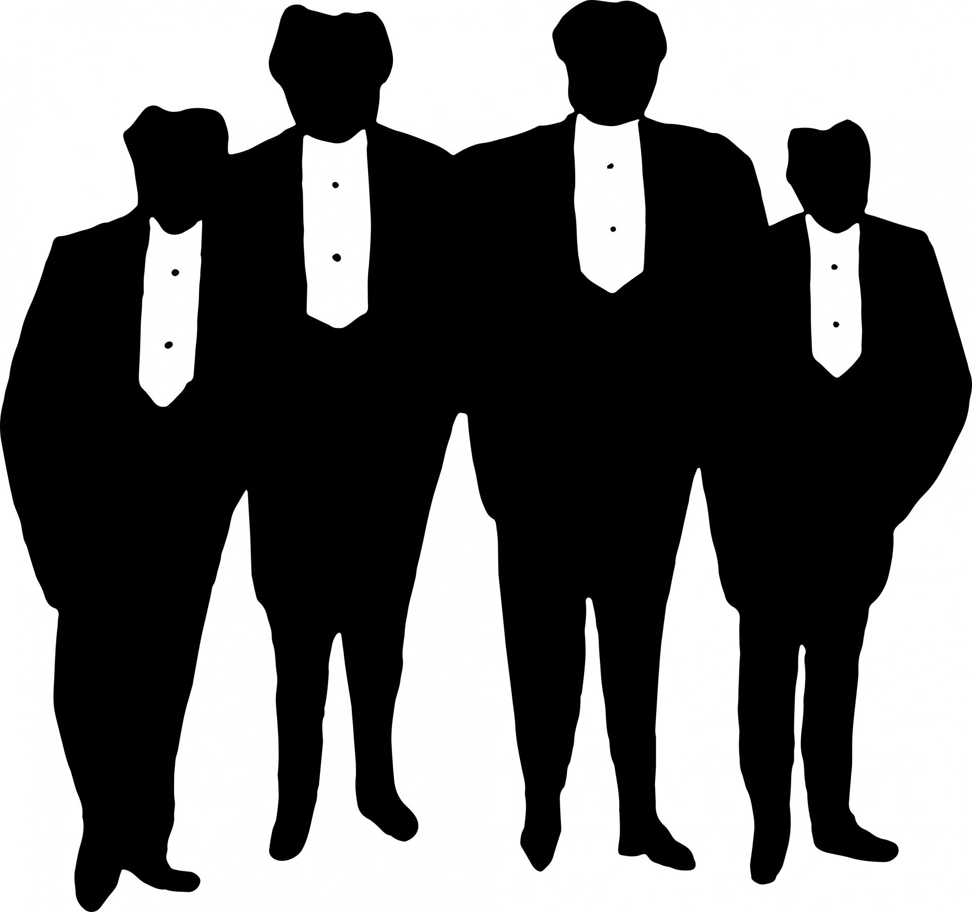 1920x1802 Silhouette Men Free Stock Photo