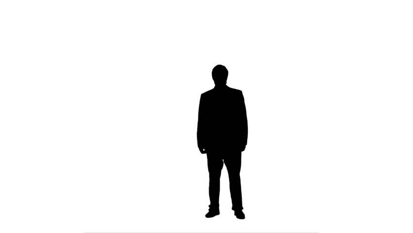 852x480 Silhouette Of Man Walking Stock Footage Video 3005113 Shutterstock