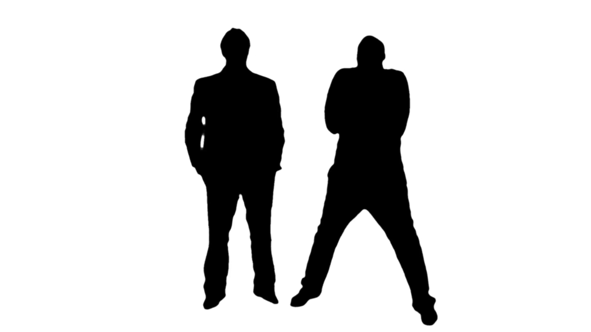 1920x1080 Business Men Meeting Silhouettes Animation