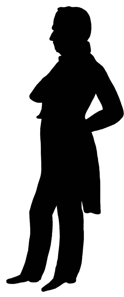 531x1267 Victorian Silhouette Clipart