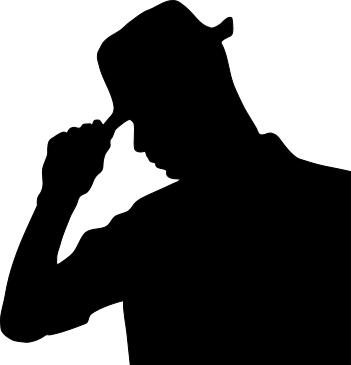 351x365 Man Wearing Hat Silhouette Shadows Silhouettes