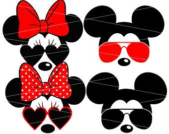 340x270 Minnie Mouse Svg Minnie Sunglasses Svg Disney Svg Mickey Mouse