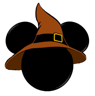 318x320 Halloween Mickey Mouse Head With Witch Hat Clip Art Clip Art
