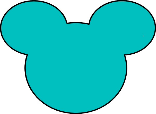 600x440 Mickey Mouse Head Outline Clip Art
