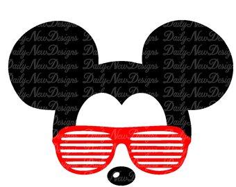 340x270 Mickey Glasses Svg Etsy