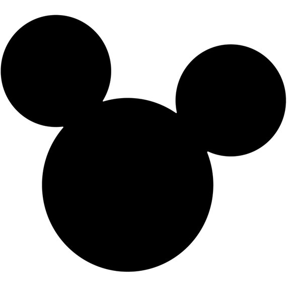 570x570 Mickey Mouse Head Silhouette Walt Disney Disneyland World