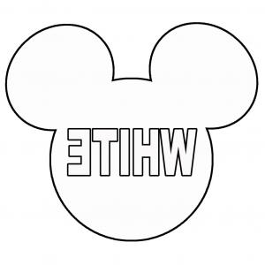 300x300 Mickey Mouse Head Template Garland Larger Size Outline Vector Ears