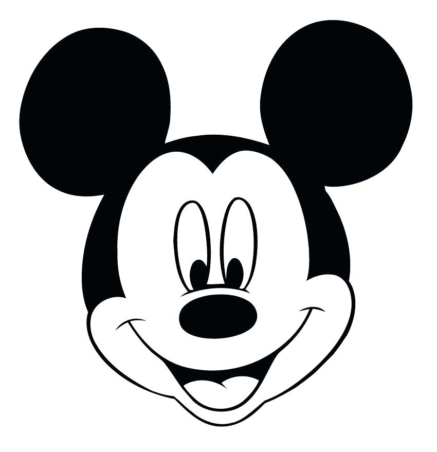850x879 Mickey Mouse Outline Free Download Best Mickey Mouse Outline